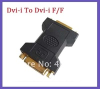 Gold Plated DVI female To DVI Female 24+5 Adapter extenal Converter/convertor  50pcs/lot