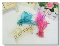 sinamay fascinators, feather fascinator with rhinestone 6pcs/lot,free shipping worn as brooch and hairpin