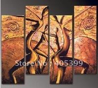 Framed!! Frame oil painting ! Huge  Framed/Stretched Modern Oil Canvas Painting ytth195