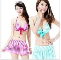 "Wholesale three-piece sexy bikini chest ""strip gathered a bikini"
