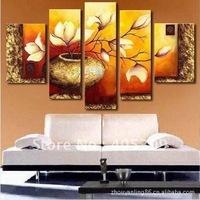 Framed!! Frame oil painting ,5 Panels/set ,Huge  Framed/Stretched  Painting  ytthh058