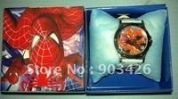 Free shipping!! 50pcs/lot ! Fashion cartoon watch spiderman children wristwatch G1189 on sale wholesale drop shipping
