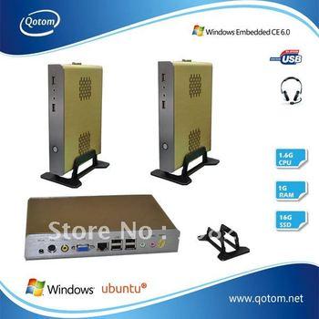 QOTOM thin client intel,thin client embedded xpe,1G RAM,16G SSD.Free shipping.