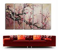 Framed!! Frame oil painting ! Huge  Museum Quality Framed/Stretched Flower Oil  Painting JYJLV196