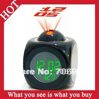 1pc New 2014 Novelty LED Projector Alarm Clock Desktop Projection Digital Clocks -- CLK26 Wholesale