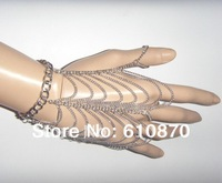 New Europe Fashion Women hand chains body chains Metal Bracelet  Wrist Multilayer Finger Chain Summer Jewelry Free shipping