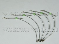 EMS/DHL/FEDEX! 3000pcs pack 15cm Salt Water Fishing Rigs Glow Bead Stainless Steel Line Swivles Fishing Tackle