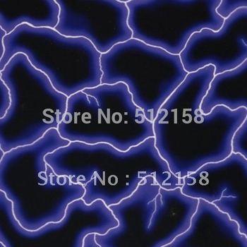 Water Transfer Printing Hydro Graphics Film- Electric Blue Lightning GH173 WIDTH 50CM