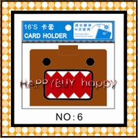120pcs / lot Free Shipping Domo Kun Card Holders Card Protector 16 cards Hotsale