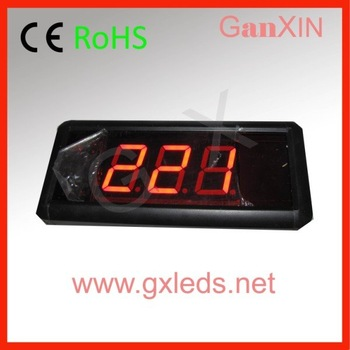 hot product queuing system 3digits indoor led counter desk( with horn)