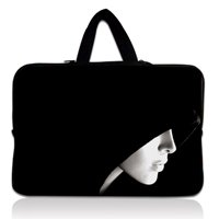 13&quot; Lady Face Neoprene Soft Laptop Netbook Sleeve Bag Case Cover Holder+Hide Handle For 13.3&quot; Apple MacBook Pro,Air,HP Folio(China (Mainland))