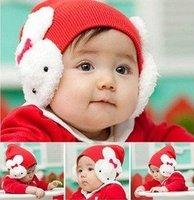Wholesale Cute little bunny ear hat wool hat baby hat