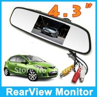 """Promotion time!2012 latest styles/NEW 4.3"""" inch TFT Car LCD Rear View Rearview DVD Mirror Monitor for car CCTV camera cam"""