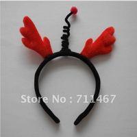 Red deer antlers party headband