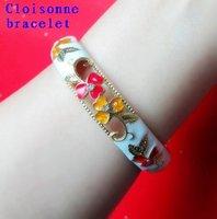 Free shipping,Flower color cloisonne bracelet,15mm big yards,ladies fashion bracelet ,Exquisite bracelet ,Tourist souvenirs.