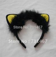 The yellow cat ear plush party headband