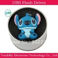 Free shipping Wholesale Blue Stitch Silicone  Usb Flash Memory Drive 2GB 4GB 8GB 16GB,Fancy gift!