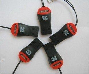 High Speed USB 2.0 t- flash-kartenleser, Mini-Stil. 100 stück versandkostenfrei beitrag versandkostenfrei statt tnt