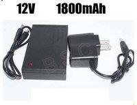 DHL  shipping  100pcs/lot New brand DC 12V 1800mah Rechargeable Li-ion Lithium Battery for CCTV camera
