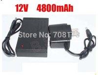 DHL  shipping  100pcs/lot New brand DC 12V 4800mah Rechargeable Li-ion Lithium Battery for CCTV camera
