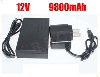 DHL  shipping  50pcs/lot New brand DC 12V 9800mah Rechargeable Li-ion Lithium Battery for CCTV camera