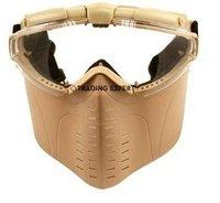 Electric Turbo Fan Full Face Mask (Tan) free ship