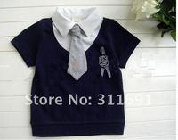 Wholesale hot children Gentleman shirt factory price   kids shirt promotion two  color 5 pcs /lot can choose color