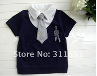 Wholesale hot children Gentleman shirt factory price   kids shirt promotion two  color 5 pcs /lot can choose color