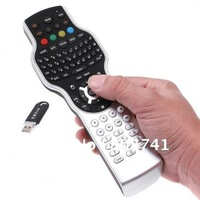 PC TV DVD All in One 2.4G Wireless Keyboard Mouse Universal Learning Remote Control ,Retail Package Free Shipping