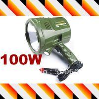 Portable 100w high power Car Halogen spotlight handheld hunting lamp Professional Searchlight, Free shipping