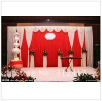 Free shipping Top-rated  customized size of wedding backdrops with swag, wedding favors , wedding background decorations
