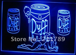 B0025-b Duff Simpsons Beer Bar Display Neon Light Sign.(China (Mainland))