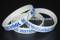 Printed Silicone Wrist band promotional gift in CHEAP price