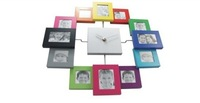 Fashional creative slience wall clock,picture replaceable art clock,decorate clock