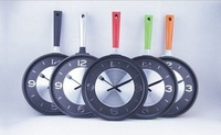 Fashional creative slience wall clock,kitchen art clock,pan clock