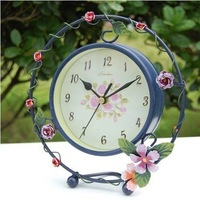 Pretty home decorate Creative restore ancient table Clock, desk Clock