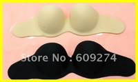 Top Quality 2012 Sexy Reusable Silicone Nude Black Strapless Backless Invisible Bra Size A B C Women's Bras 12003