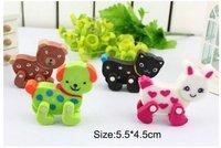 Wholesale 80pcs/lot mixed design available animal cartoon rubber ,car shape  lovely children cartoon eraser