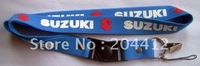 SUZUKI CAR MOBILE CELL PHONE ELASTIC NECK STRAP LANYARD blue
