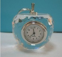 Apple mode mini clock , plated alloy combination with quartz clock with crystal,buy it now