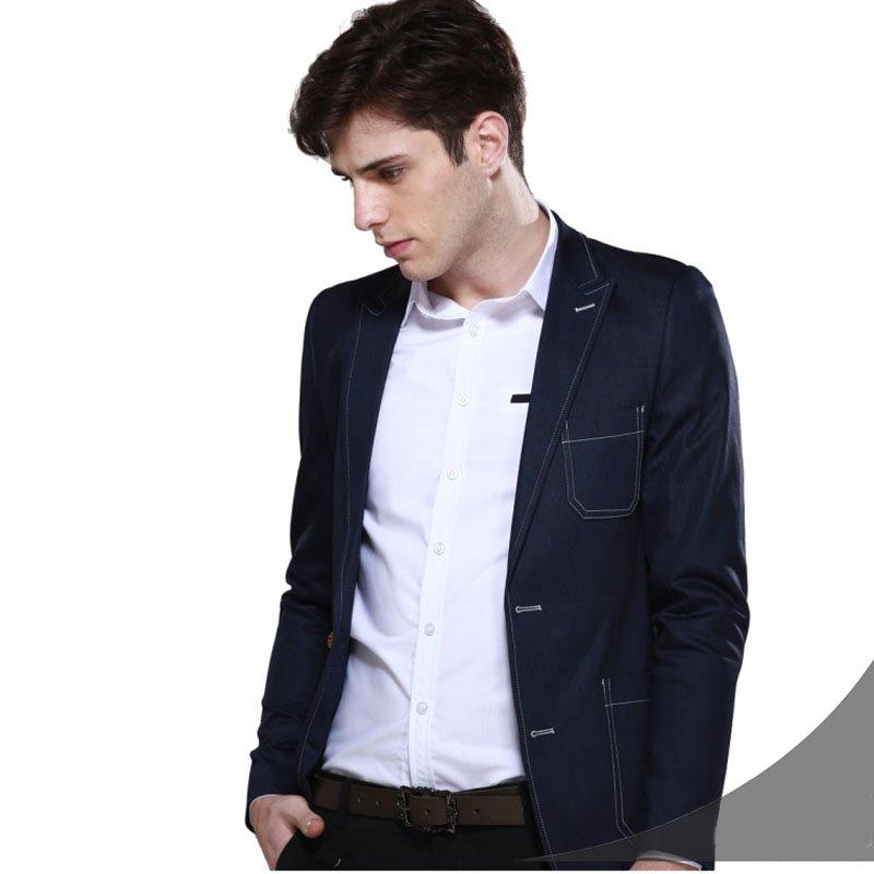 Mens Suit Jacket Blue For Men Jeans Suit Jacket