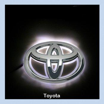 Toyota Camry LED Car Decal Logo Tail Light Badge Emblem Sticker Lamp White Light