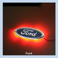 Car LED Decal Logo Tail Light Badge Emblem Sticker Lamp Red For Ford Focus