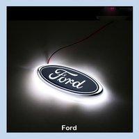 Car LED Decal Logo Tail Light Badge Emblem Sticker Lamp White For Ford Focus