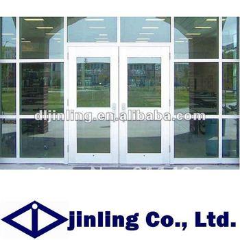 Aluminum Commercial Double Glass Doors Aluminum Glass Double Entry Doors Commercial Glass Entry Door