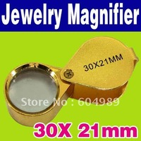 Free Shipping 30x 21mm Jewelers Eye Magnifier Magnifying Glass Loupe O-376