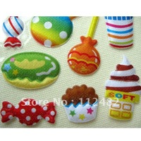 Hamburger series Cartoon Kids Bubble Stickers Teaching Things Sponge posted Gift