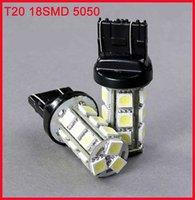 White 7440/7443(T20)  18SMD 5050  Car Brake Turn Backup LED Light  HK Post Free Shipping
