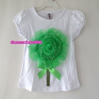 2013 summer flower top girls t-shirt 5pcs/lot baby tshirt Brand children t shirts freeshipping