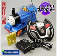 free shipping Children's Gift remote control Thomas (charge) with a light four-way remote control locomotive